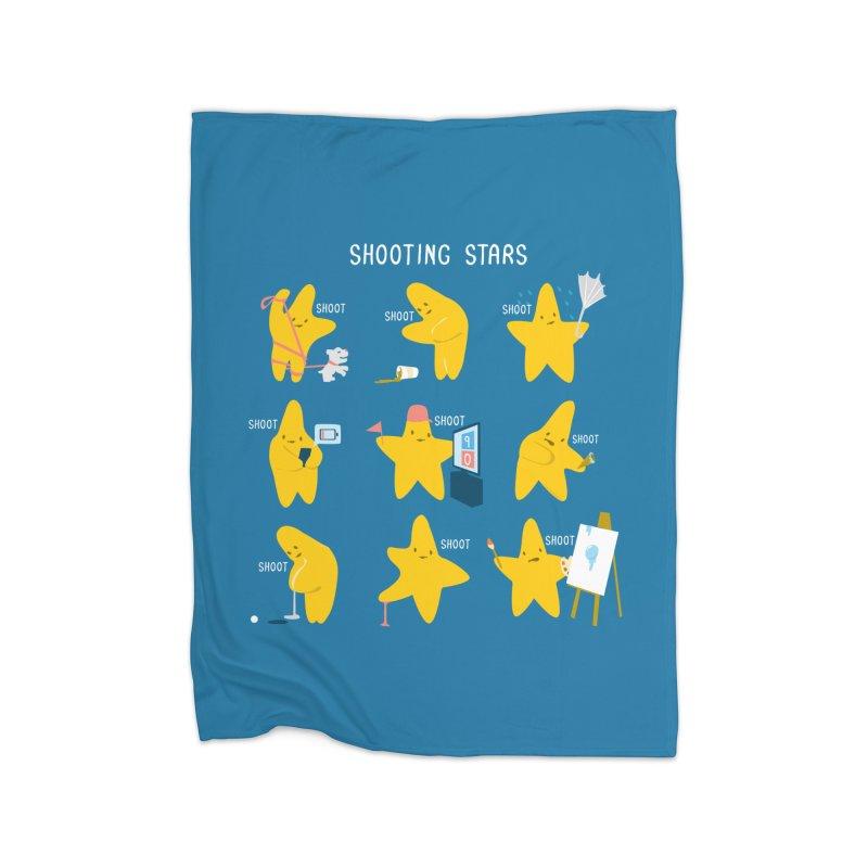 Shooting Stars! Home Fleece Blanket Blanket by Nathan W Pyle