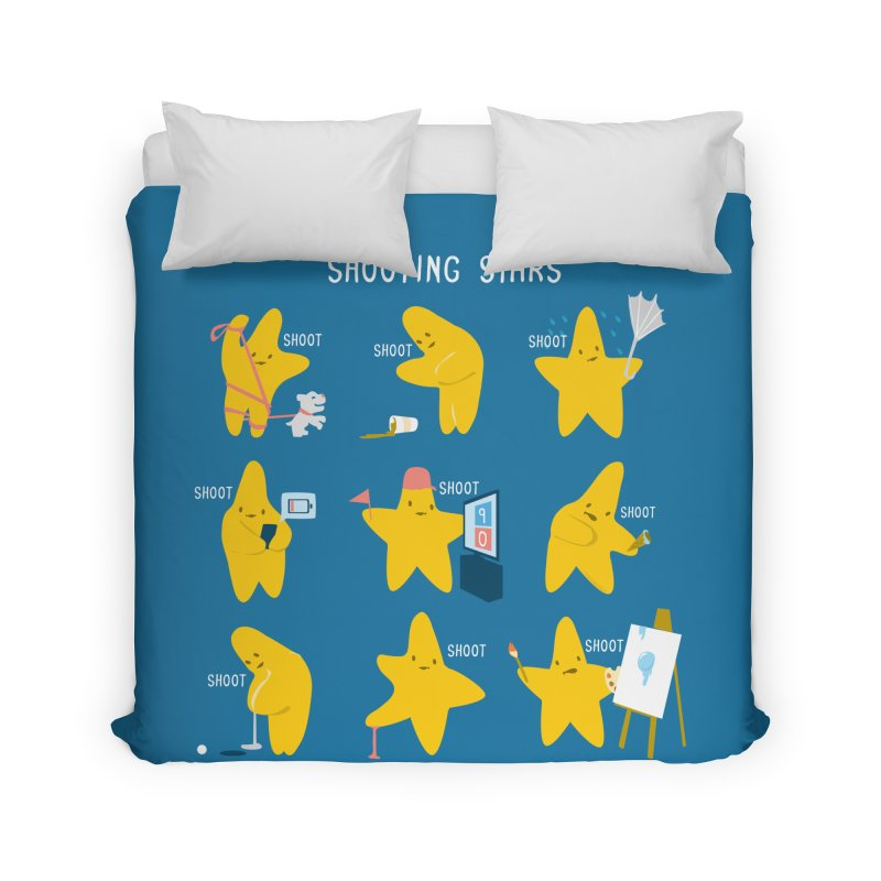 Shooting Stars! Home Duvet by nathanwpyle's Artist Shop