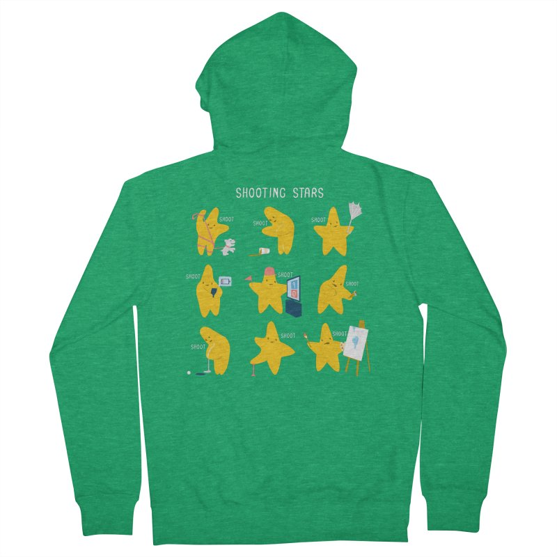 Shooting Stars! Women's Zip-Up Hoody by nathanwpyle's Artist Shop