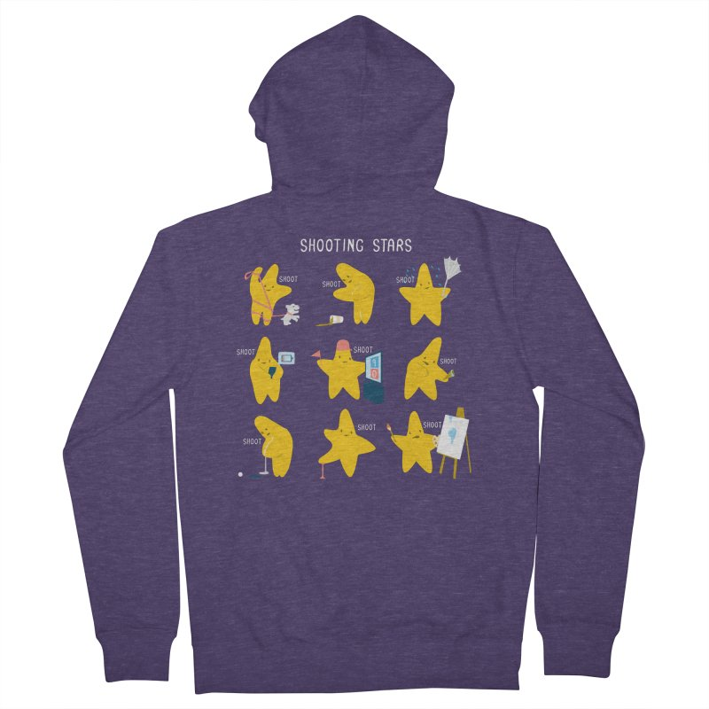 Shooting Stars! Men's Zip-Up Hoody by nathanwpyle's Artist Shop