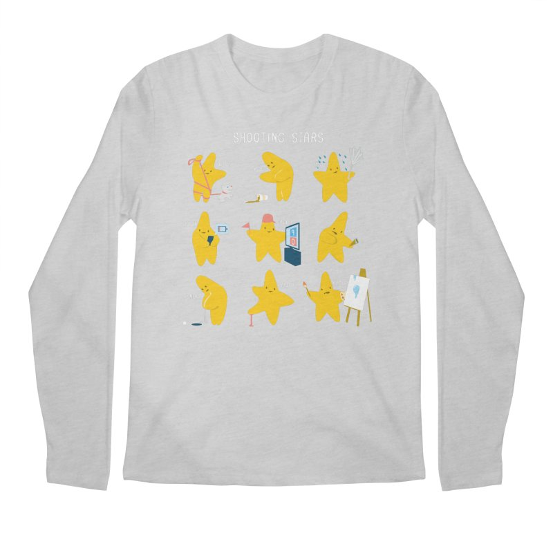 Shooting Stars! Men's Longsleeve T-Shirt by nathanwpyle's Artist Shop