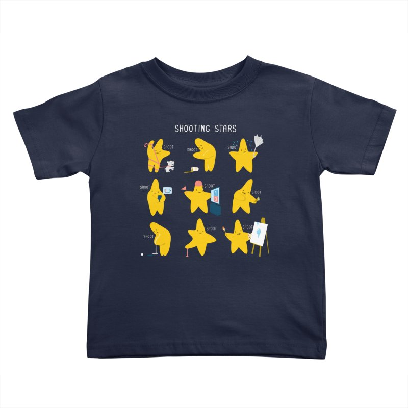 Shooting Stars! Kids Toddler T-Shirt by Nathan W Pyle