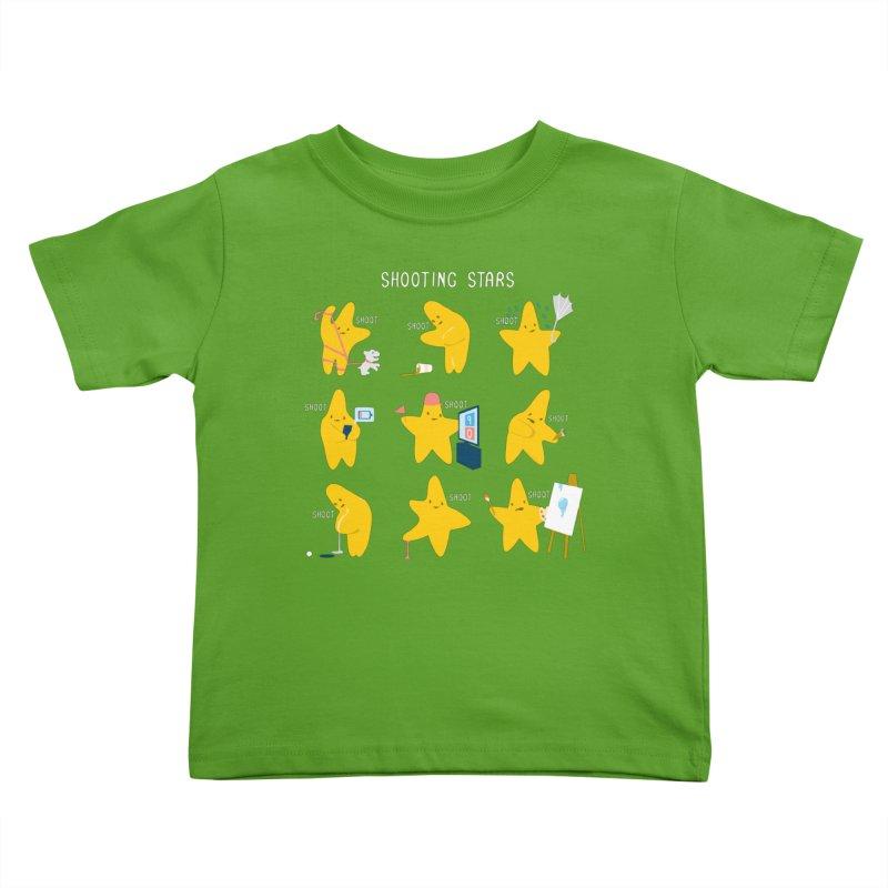 Shooting Stars! Kids Toddler T-Shirt by Nathan W Pyle