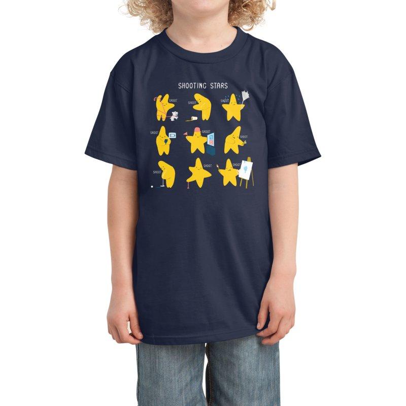 Shooting Stars! Kids T-Shirt by Nathan W Pyle