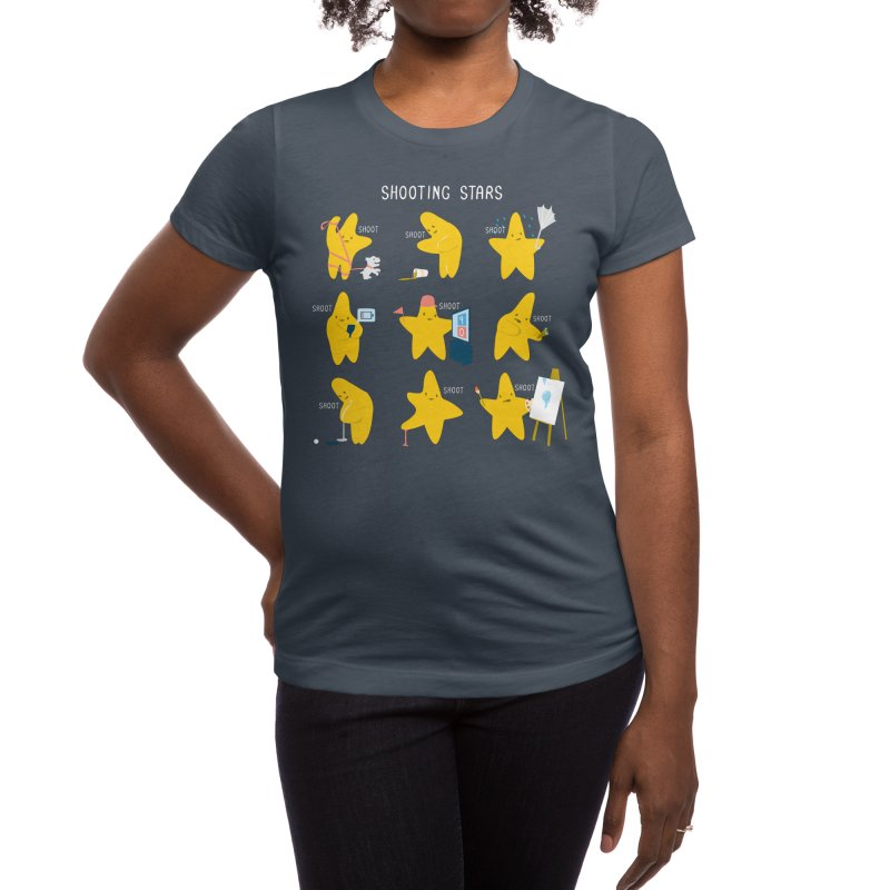 Shooting Stars! Women's T-Shirt by Nathan W Pyle