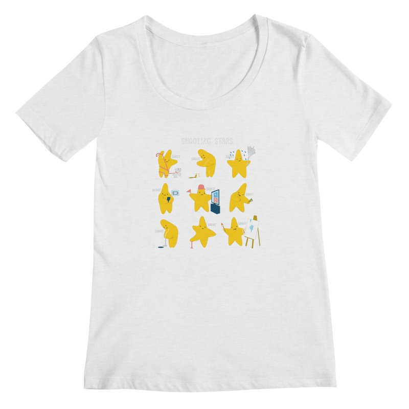 Shooting Stars! Women's Scoopneck by nathanwpyle's Artist Shop
