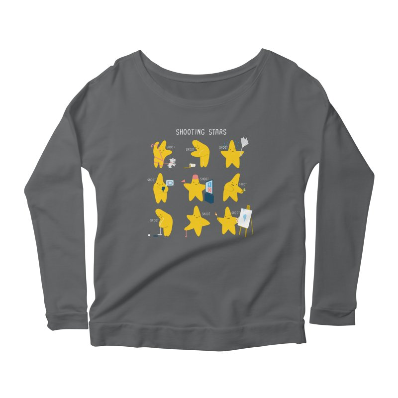 Shooting Stars! Women's Longsleeve Scoopneck  by nathanwpyle's Artist Shop