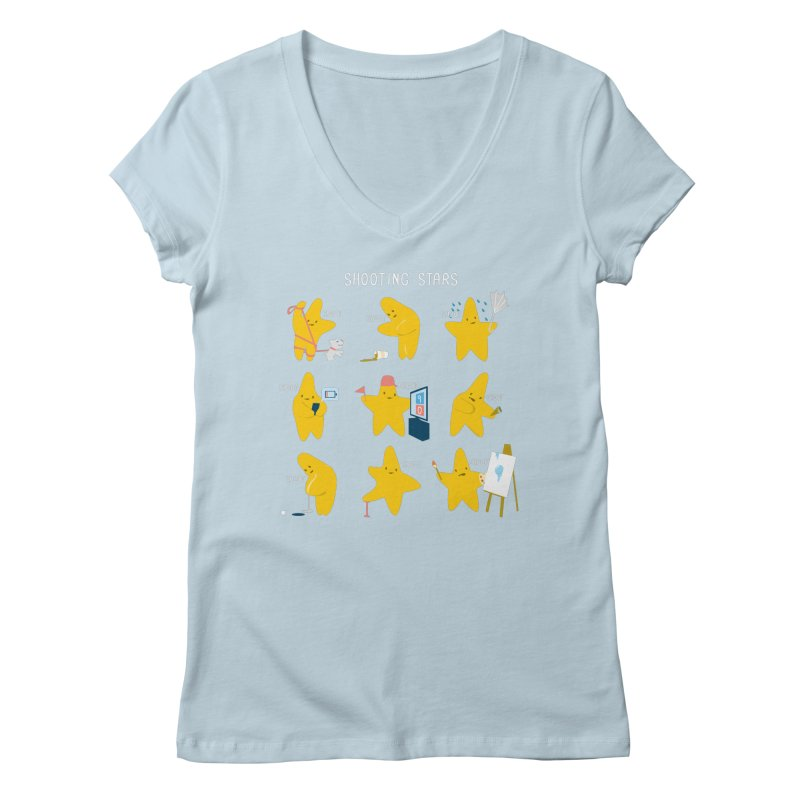Shooting Stars! Women's V-Neck by nathanwpyle's Artist Shop