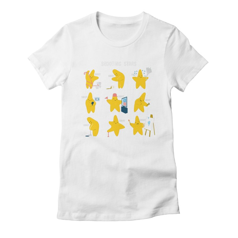 Shooting Stars! Women's Fitted T-Shirt by nathanwpyle's Artist Shop