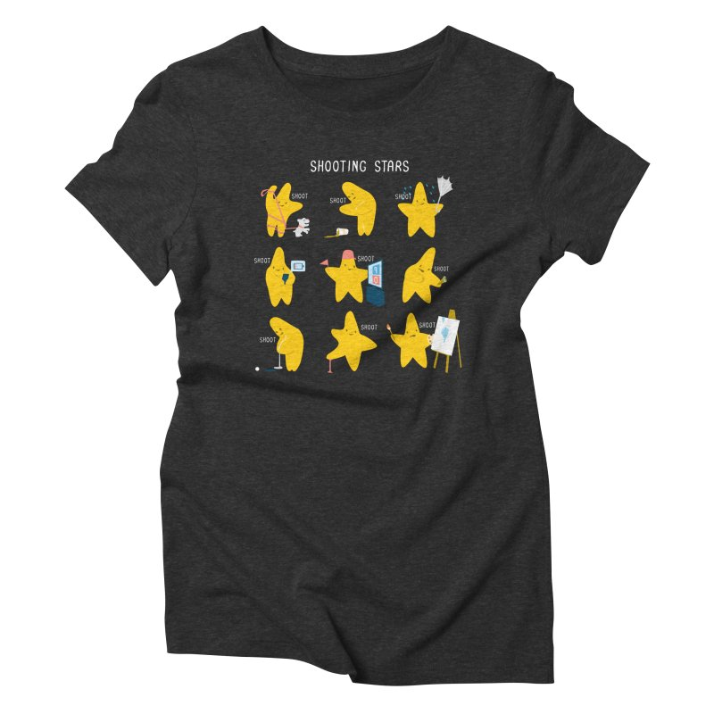 Shooting Stars! Women's Triblend T-Shirt by nathanwpyle's Artist Shop