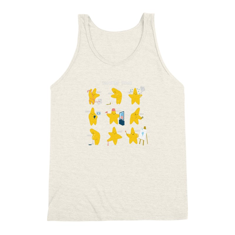 Shooting Stars! Men's Triblend Tank by nathanwpyle's Artist Shop
