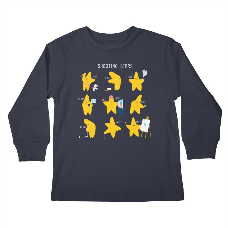 Shooting Stars! Kids Longsleeve T-Shirt by Nathan W Pyle