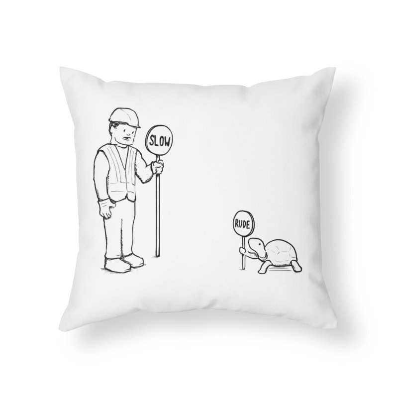 Rude! Home Throw Pillow by nathanwpyle's Artist Shop
