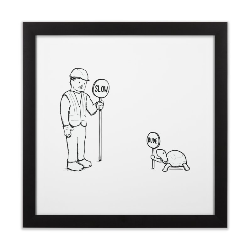 Rude! Home Framed Fine Art Print by nathanwpyle's Artist Shop