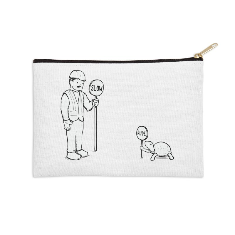 Rude! Accessories Zip Pouch by nathanwpyle's Artist Shop