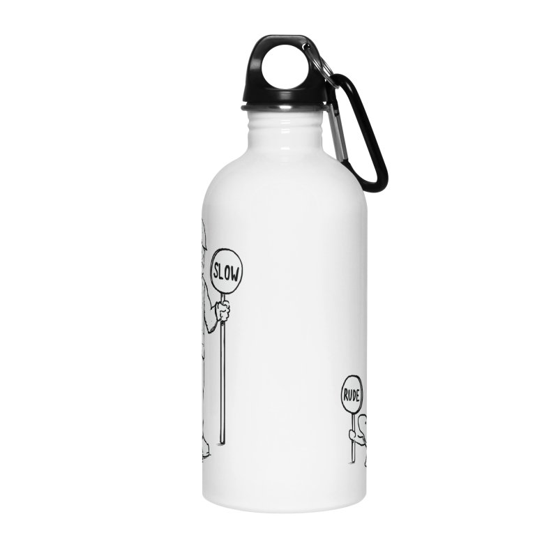 Rude! Accessories Water Bottle by Nathan W Pyle