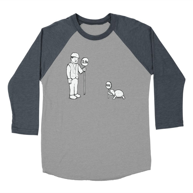 Rude! Women's Baseball Triblend T-Shirt by nathanwpyle's Artist Shop