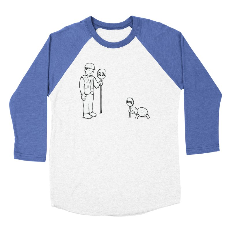 Rude! Men's Baseball Triblend T-Shirt by nathanwpyle's Artist Shop