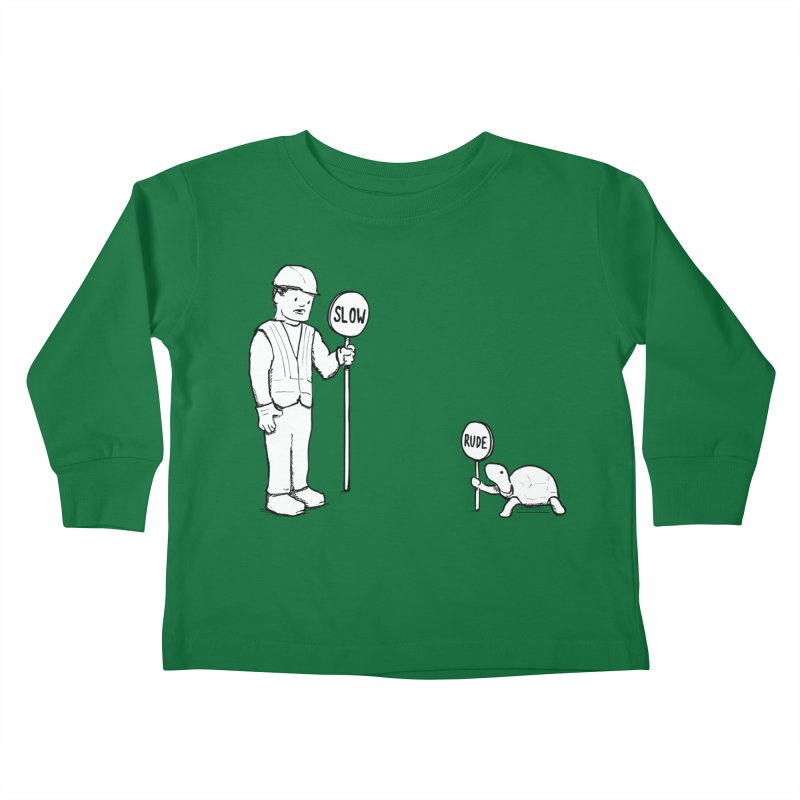 Rude! Kids Toddler Longsleeve T-Shirt by nathanwpyle's Artist Shop