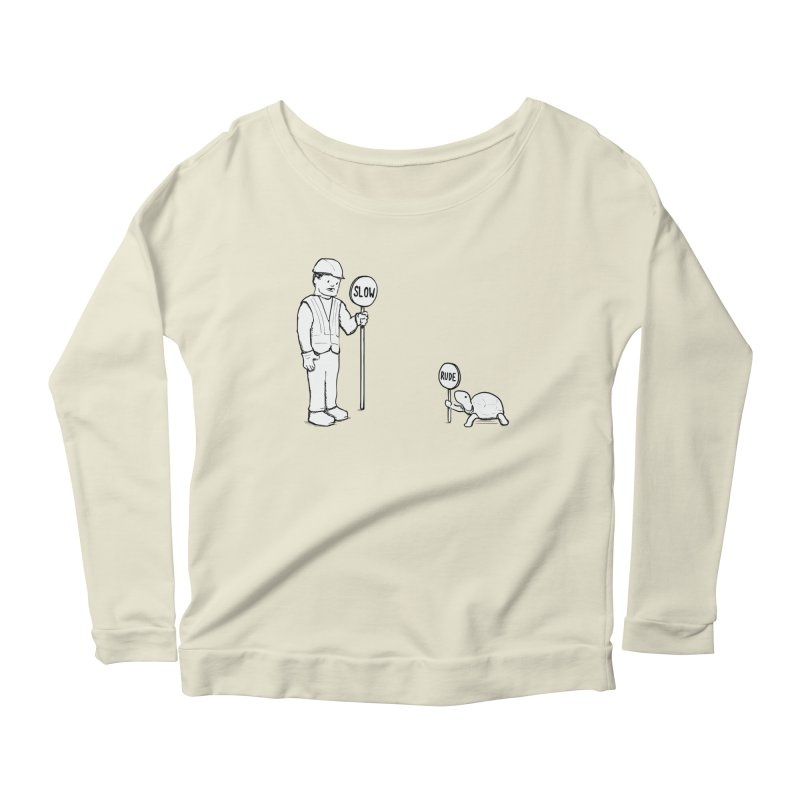 Rude! Women's Longsleeve Scoopneck  by nathanwpyle's Artist Shop