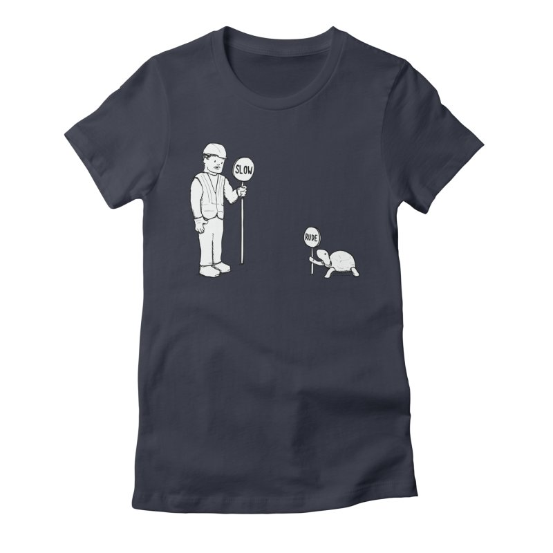 Rude! Women's Fitted T-Shirt by nathanwpyle's Artist Shop