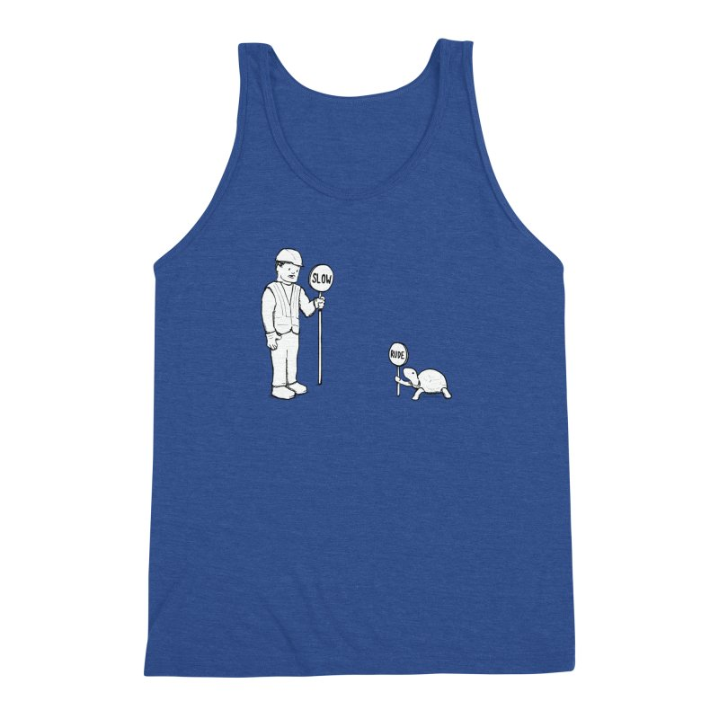 Rude! Men's Triblend Tank by nathanwpyle's Artist Shop