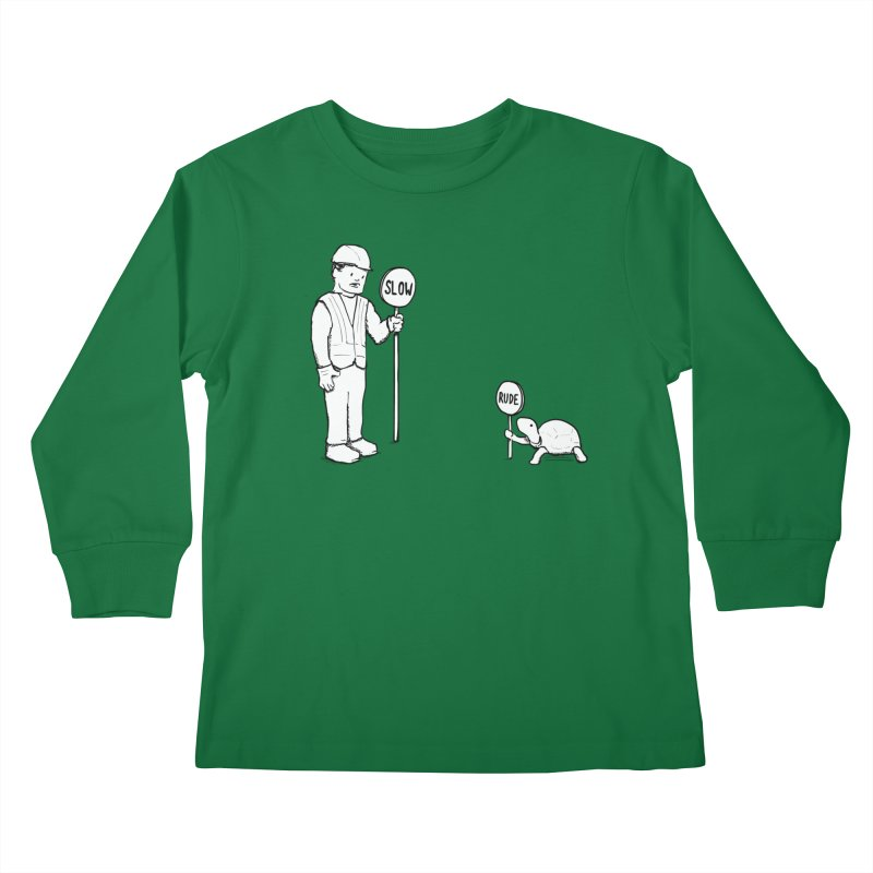 Rude! Kids Longsleeve T-Shirt by nathanwpyle's Artist Shop