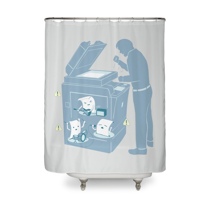 Paper Jam Home Shower Curtain by Nathan W Pyle