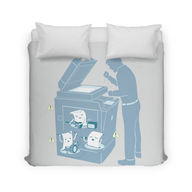 Paper Jam Home Duvet by Nathan W Pyle