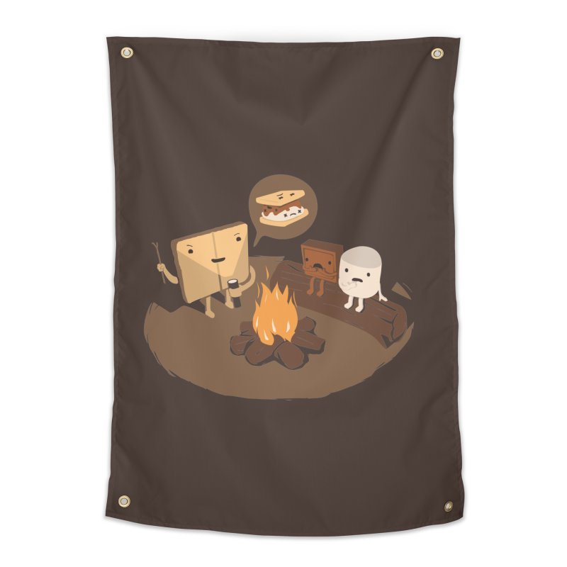 Tell Us S'more Home Tapestry by Nathan W Pyle