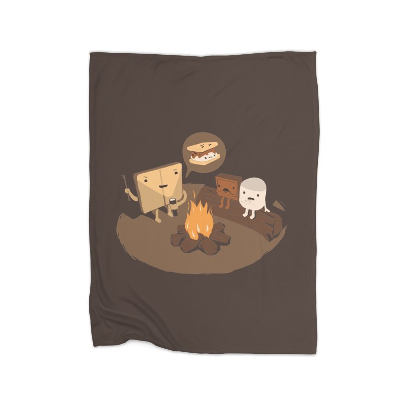 Tell Us S'more Home Fleece Blanket Blanket by Nathan W Pyle