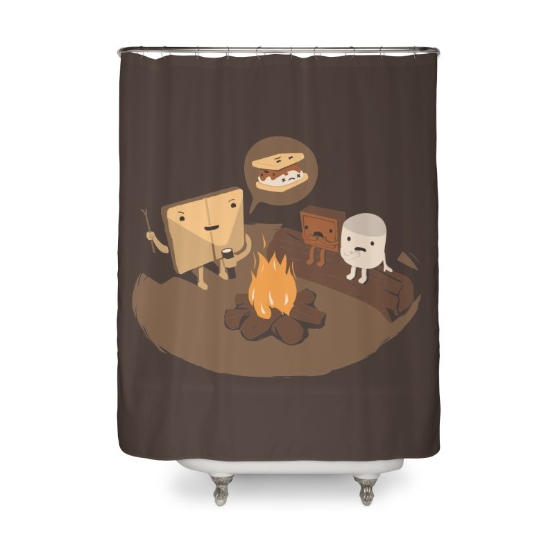 Tell Us S'more Home Shower Curtain by Nathan W Pyle