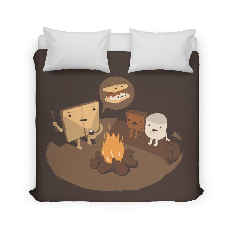 Tell Us S'more Home Duvet by Nathan W Pyle