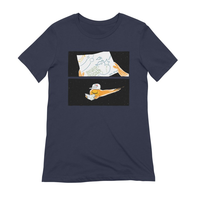 SADDEST THING I'VE DRAWN in Women's Extra Soft T-Shirt Navy by Nathan W Pyle
