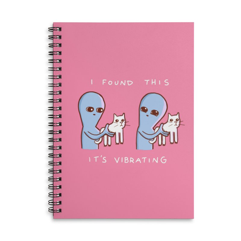STRANGE PLANET SPECIAL PRODUCT: I FOUND THIS IT'S VIBRATING Accessories Notebook by Nathan W Pyle