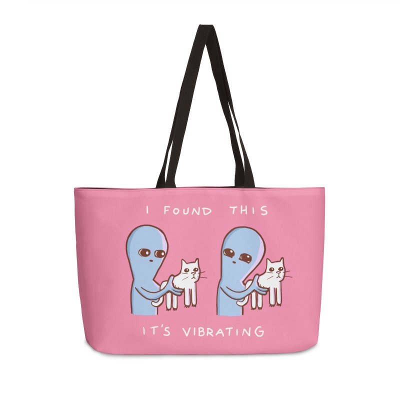 STRANGE PLANET SPECIAL PRODUCT: I FOUND THIS IT'S VIBRATING Accessories Weekender Bag Bag by Nathan W Pyle