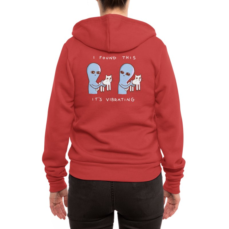 STRANGE PLANET SPECIAL PRODUCT: I FOUND THIS IT'S VIBRATING Women's Zip-Up Hoody by Nathan W Pyle