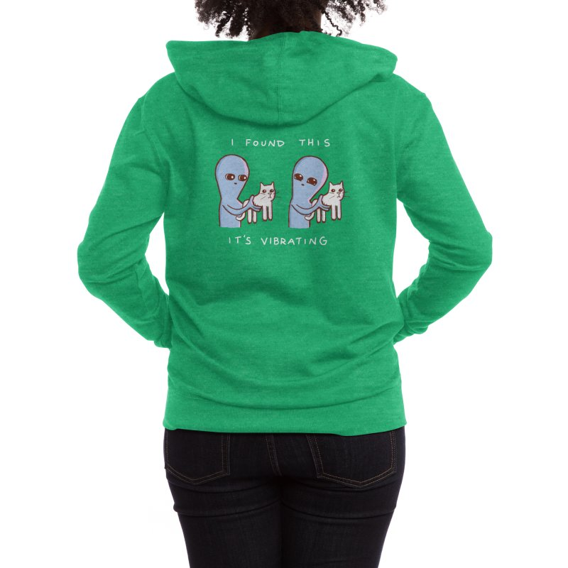 STRANGE PLANET SPECIAL PRODUCT: I FOUND THIS IT'S VIBRATING Women's Zip-Up Hoody by Nathan W Pyle Shop   Strange Planet Store   Thread