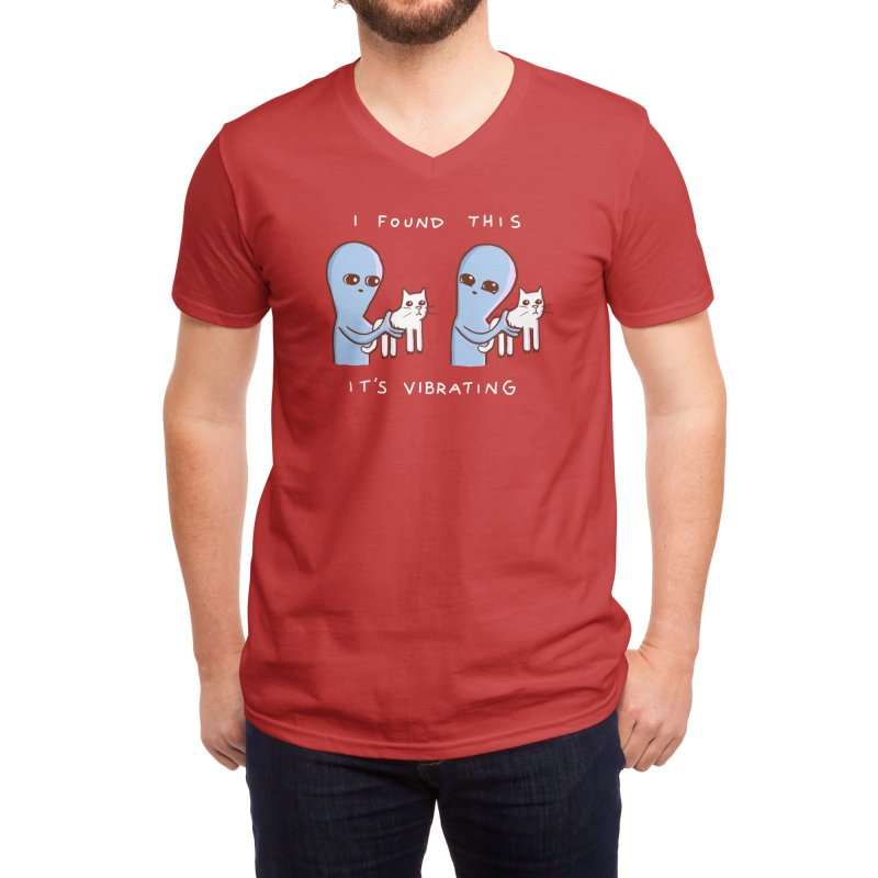 STRANGE PLANET SPECIAL PRODUCT: I FOUND THIS IT'S VIBRATING Men's V-Neck by Nathan W Pyle Shop | Strange Planet Store | Thread