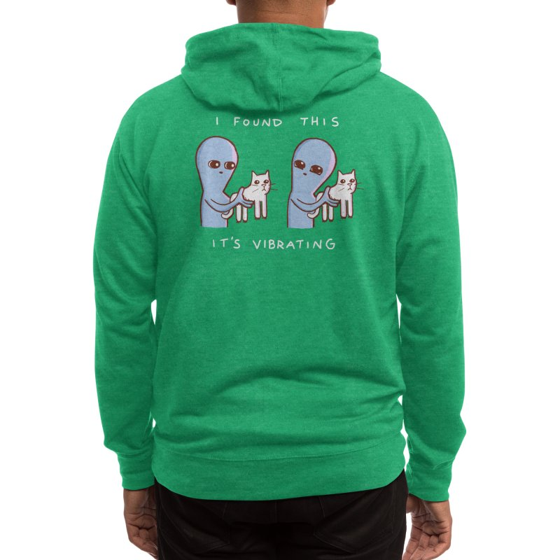 STRANGE PLANET SPECIAL PRODUCT: I FOUND THIS IT'S VIBRATING Men's Zip-Up Hoody by Nathan W Pyle Shop   Strange Planet Store   Thread