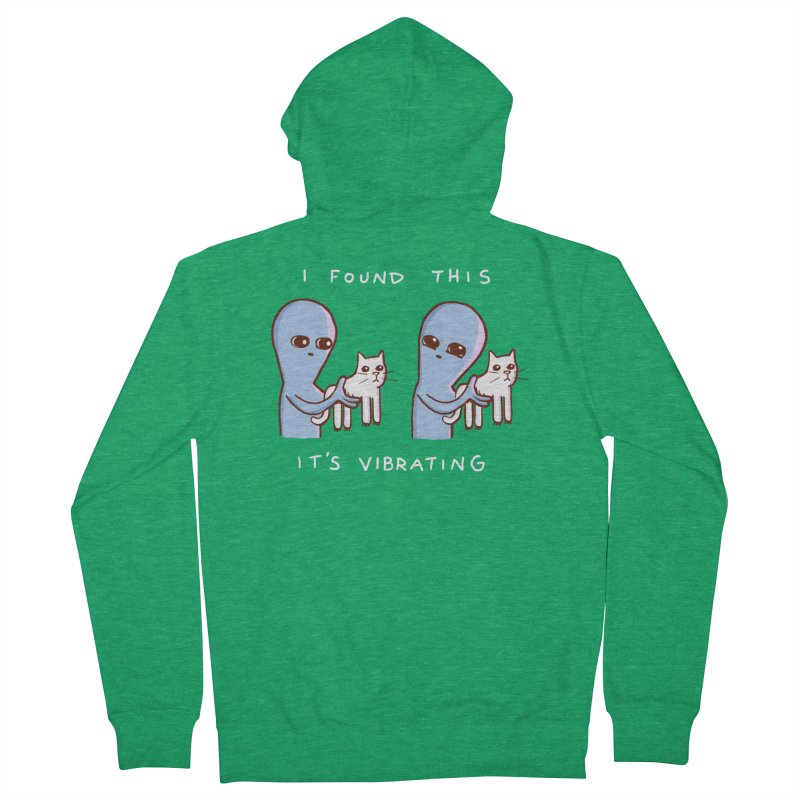 STRANGE PLANET SPECIAL PRODUCT: I FOUND THIS IT'S VIBRATING Men's Zip-Up Hoody by Nathan W Pyle