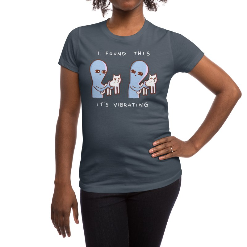 STRANGE PLANET SPECIAL PRODUCT: I FOUND THIS IT'S VIBRATING Women's T-Shirt by Nathan W Pyle Shop   Strange Planet Store