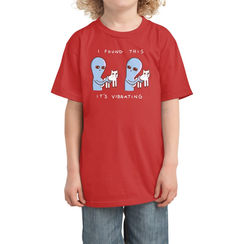STRANGE PLANET SPECIAL PRODUCT: I FOUND THIS IT'S VIBRATING Kids T-Shirt by Nathan W Pyle Shop | Strange Planet Store | Thread