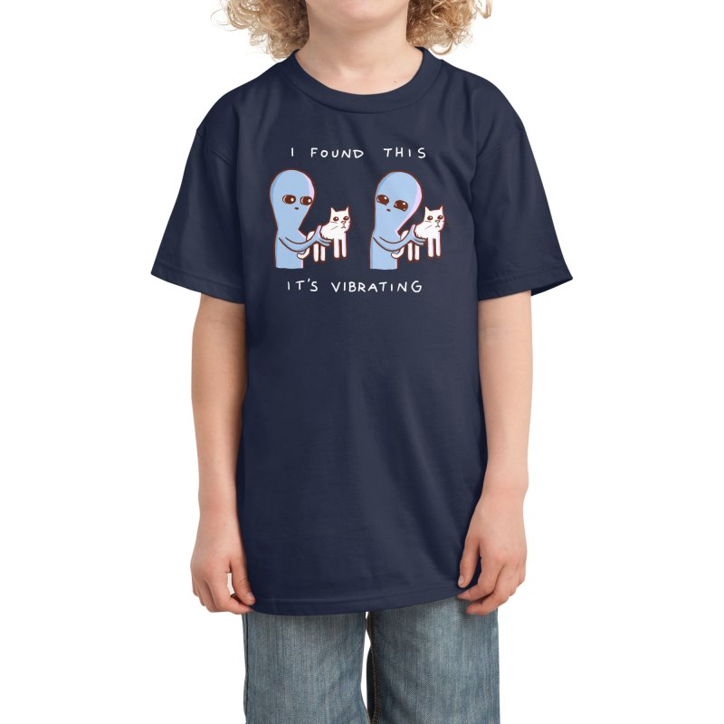 STRANGE PLANET SPECIAL PRODUCT: I FOUND THIS IT'S VIBRATING Kids T-Shirt by Nathan W Pyle