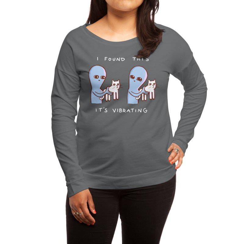 STRANGE PLANET SPECIAL PRODUCT: I FOUND THIS IT'S VIBRATING Women's Longsleeve T-Shirt by Nathan W Pyle