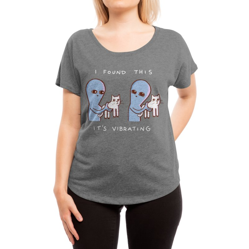 STRANGE PLANET SPECIAL PRODUCT: I FOUND THIS IT'S VIBRATING Women's Scoop Neck by Nathan W Pyle Shop   Strange Planet Store   Thread