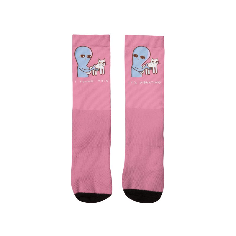 STRANGE PLANET SPECIAL PRODUCT: I FOUND THIS IT'S VIBRATING Women's Socks by Nathan W Pyle