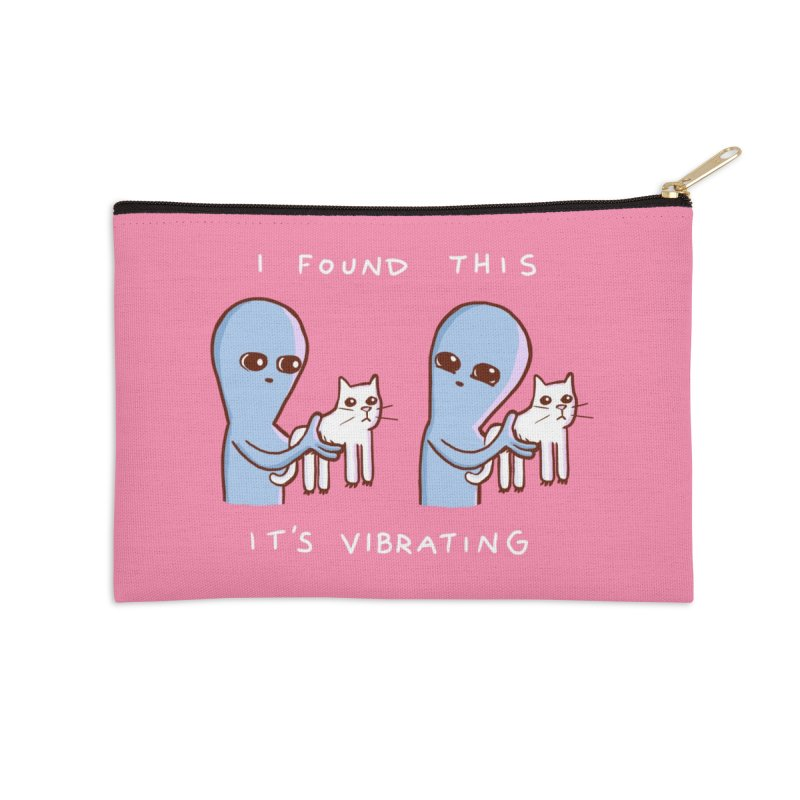 STRANGE PLANET SPECIAL PRODUCT: I FOUND THIS IT'S VIBRATING Accessories Zip Pouch by Nathan W Pyle