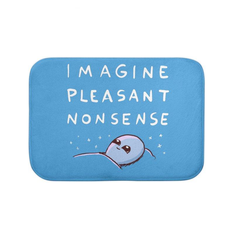 STRANGE PLANET SPECIAL PRODUCT: IMAGINE PLEASANT NONSENSE Home Bath Mat by Nathan W Pyle Shop | Strange Planet Store | Thread