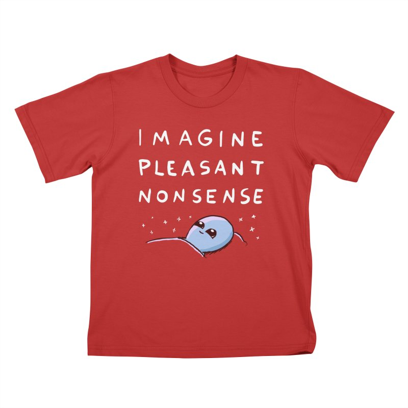 STRANGE PLANET SPECIAL PRODUCT: IMAGINE PLEASANT NONSENSE Kids T-Shirt by Nathan W Pyle